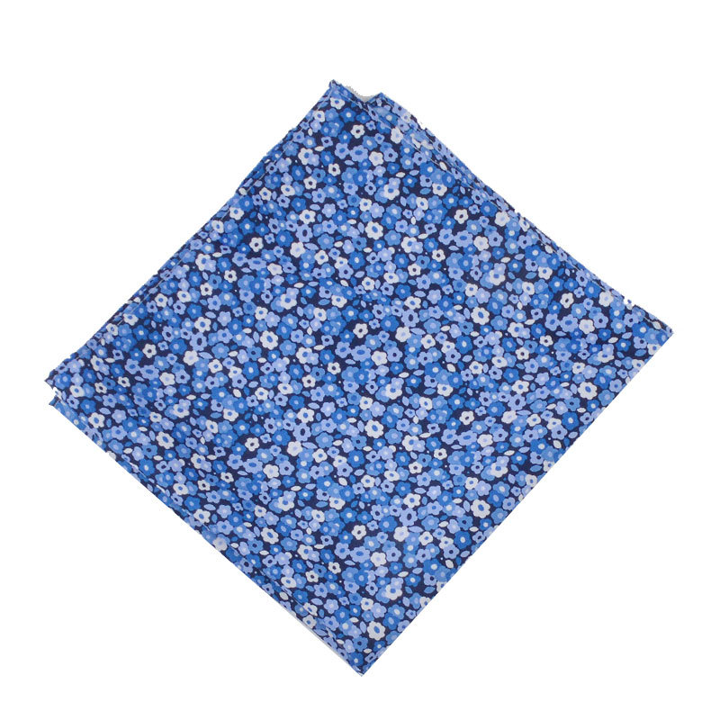[] Men Printed Kerchief Polyester Hipster Floral-Print Pocket Square Enquiry