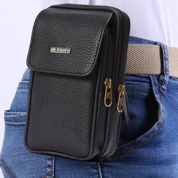 Klasyczna torba na klatkę piersiowa klasyczny Vintage torba biznesowa torba na biodra Bum Belt Pack Travel małe etui na telefon mężczyźni w klatce piersiowej New Fashion tanie i dobre opinie CN (pochodzenie) 16 5cm Men Phone Pouch