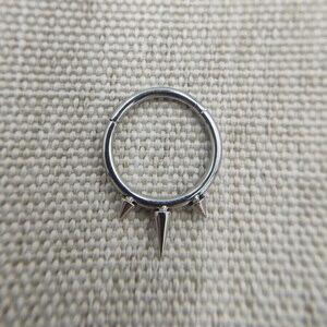 16 г имплантант класса титана ASTM F136 конусный спиральный шарнирный сегмент кольцо обруч для перегородки Daith спиральный для хряща пирсинг ювел...