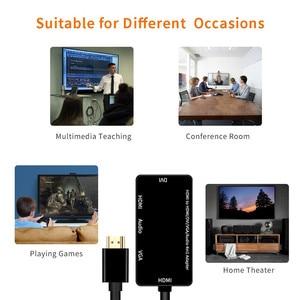 Image 5 - HDMI Adapter HDMI to VGA DVI HDMI Synchronous Display 1080P 4 in 1 Video Audio HDMI Converter