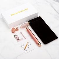 Electric Jade Roller For Face Eye Massage Rose Quartz Facial Rollers Vibrating Beauty Bar Skin Tightening Tool Waterproof 1