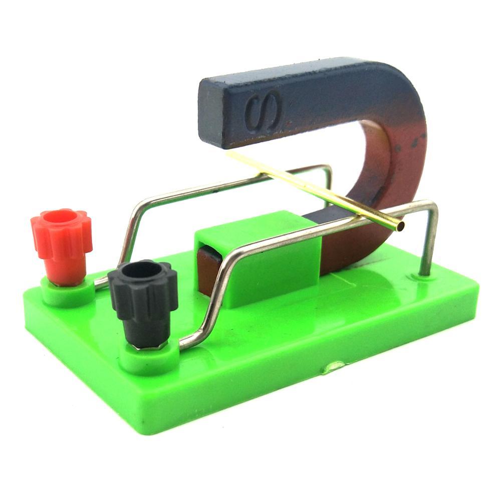 Campo magnético que atua no instrumento experimental atual ampere força aparelho experimental para ensino de física da escola júnior