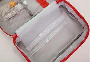 Image 4 - 휴대용 응급 처치 키트 응급 가방 방수 자동차 키트 가방 야외 여행 생존 키트 빈 가방 23*13*7.5cm