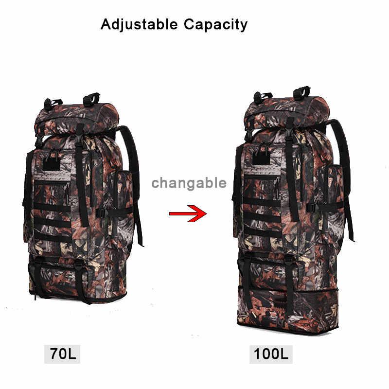 80L militaire tactique sac à dos randonnée sac à dos Camouflage hommes Camping armée sac alpinisme escalade Trekking Mochila XA861WA