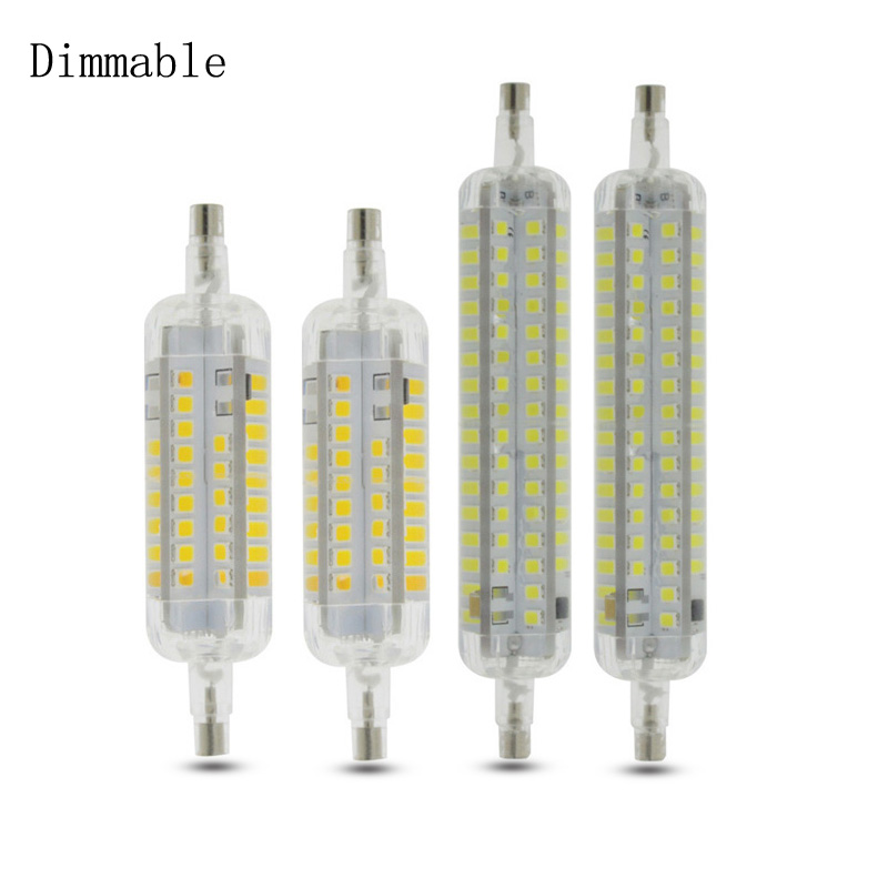 2020 New Lamparas Dimmable <font><b>R7S</b></font> <font><b>LED</b></font> Corn 78mm <font><b>118mm</b></font> Light 2835 SMD Bulb 15W 25W Replace Halogen Lamp <font><b>Bombillas</b></font> image
