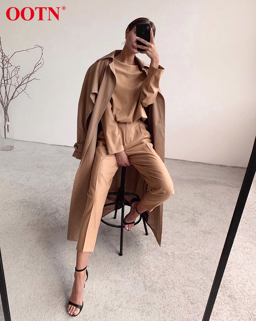 Hc02a0efb1a574e09837df20e6d7c501eL - OOTN Casual High Waist Khaki Pants Women Summer Spring Brown Ladies Office Trousers Zipper Pocket Solid Female Pencil Pants