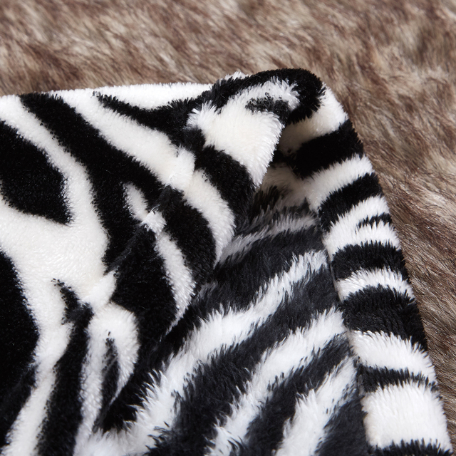 Merrylife Throw Blankets for Sofa bed Pattern Print Striped Cheetah Zebra Home Textile Flannel Plush Soft Travel Oversized 4