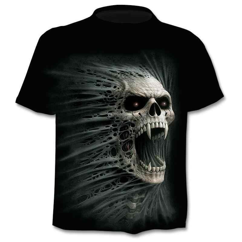 2020 新偽ジャケット印刷tシャツスカル 3d tシャツ夏半袖tシャツトップ男性/女性半袖トップ