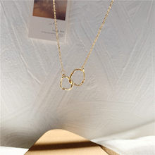 Cold wind irregular cross geometric collarbone chain female fashion personality joker temperament contracted neck chain necklace