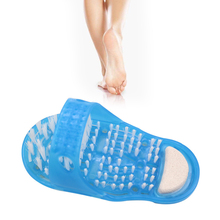 28*14*11.5cm Plastic Bath Shoe Shower Brush Massager Slippers Shoes For Feet Pumice Stone Foot Scrubber Brushes