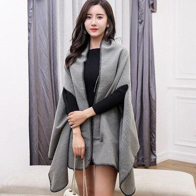 Новинка, роскошный брендовый женский зимний шарф, теплая шаль, женское Клетчатое одеяло, вязанное кашемировое пончо, накидки для женщин, echarpe - Цвет: style 4