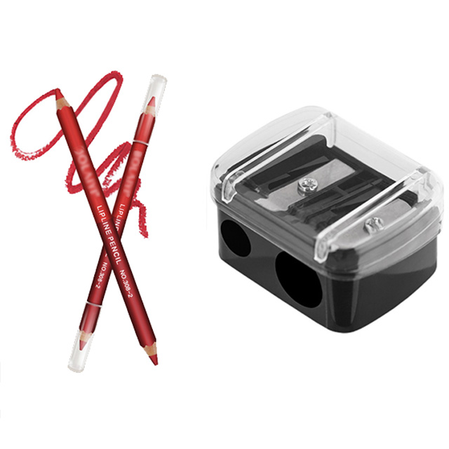 Фирменная прецизионная губная помада с двойными отверстиями, точилка для косметических карандашей для бровей, подводка для губ, карандаш д...