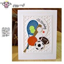 Piggy Craft do cięcia metalu umiera cięcia formy sportowe kule dekoracyjne papier do notatnika craft nóż formy ostrze wykrojniki szablony umiera