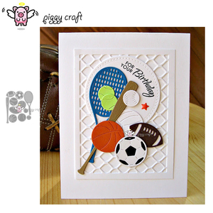 Image 1 - Piggy Craft metal cutting dies cut die mold Sports ball decoration Scrapbook paper craft knife mould blade punch stencils dies