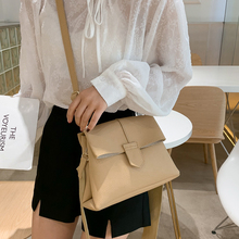 купить Casual Solid Color Crossbody Bag Fashion Pu Leather Small Flap Bag Women Shoulder Bag Lady Purse High Quality Women Bags  Purse дешево