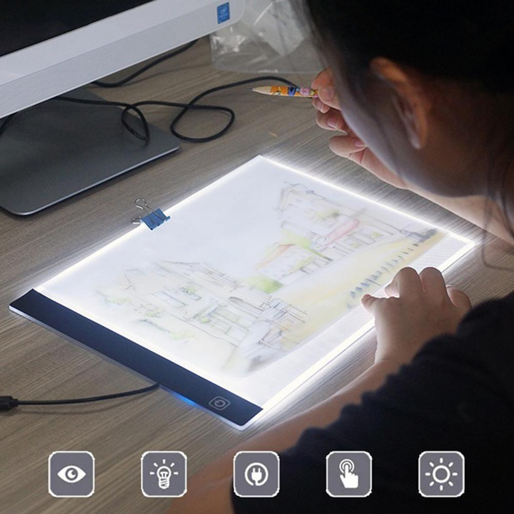 A4 LED Ultra Thin Drawing Board Painting Copy Tracing Light Box USB Rechargeable Art Tablet Sketching Animation For Art Student