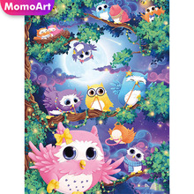 MomoArt 5D Diamond Painting Owl Cartoon Full Drill Square DIY Embroidery Cross Stitch Decorations For Home