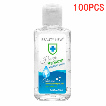 100PCS 70ml Hand Sanitizer Gel Antibacterial Hand Gel Disinfection Quick-dry Portable Natural Hand Care Hand Sanitiser No Wash