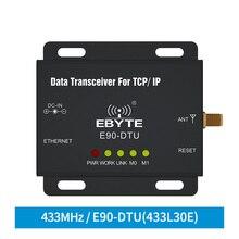 Ethernet LoRa 433MHz 30dBm 1W TCXO E90-DTU-433L30E Long Range Wireless Transceiver  IoT PLC Long Distance 433 MHz RJ45 rf Module efr32 868mhz 100mw smd wireless transceiver e76 868m20s long distance 20dbm soc arm 868 mhz transmitter receiver rf module