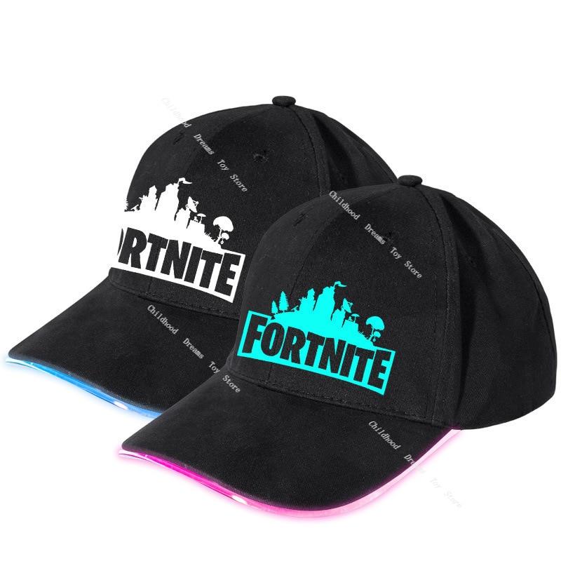 Fortnite-casquette de Baseball fluorescente pour hommes et femmes, lumineuse, casquette de Sport en plein air, mode décontracté, cadeau pour enfants et garçons