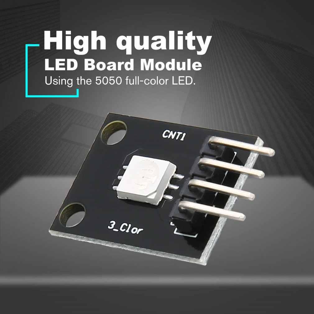 KY-009 3 צבעים RGB SMD LED לוח מודול 5050 מלא שלושה צבעים LED KY009 מודול לarduino DIY Starter Kit שחור