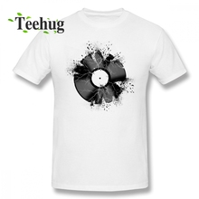 Music Disc T shirt Plus szie Hipster Break The Record Tee For Male 2018 New Unique Design Man Graphic T-Shirt