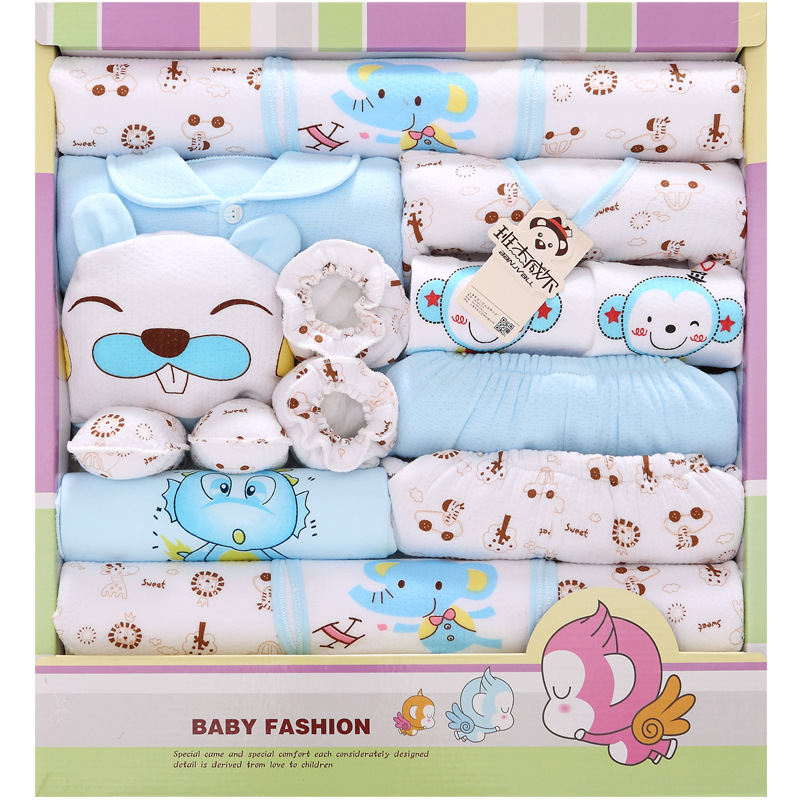 Autumn And Winter Thick Clothes For Babies Pure Cotton Newborns Gift Box Newborn Baby Set Supplies