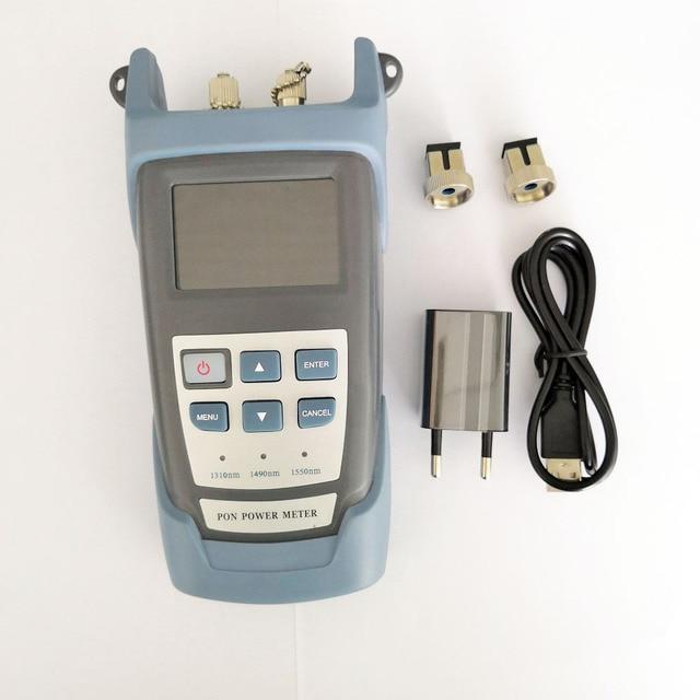 Compteur dénergie optique portatif de PON avec la longueur donde dessai de réseau de PON (1490nm, 1550nm,1310nm) ONT / OLT RY P100
