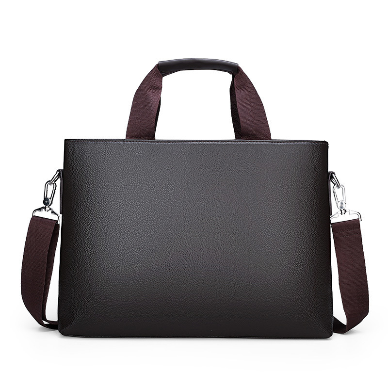 Men's Shoulder Bag Men Briefcase Pu Leather Business Casual Tote Bags Vintage Travel Laptop Handbag Men's Messenger Bags