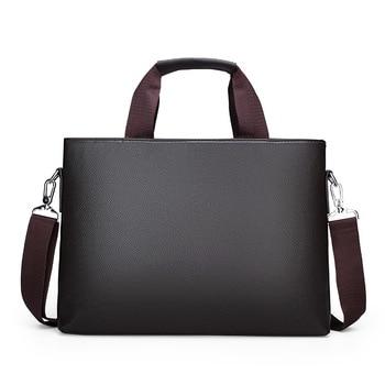 Men's Shoulder Bag Men Briefcase Pu Leather Business Casual Tote Bags Vintage Travel Laptop Handbag Men's Messenger Bags the roots of hinduism