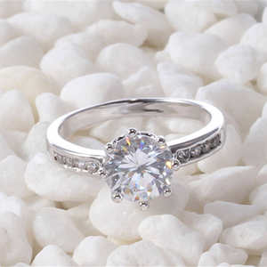 Zircon-Ring Clear Engagement New-Product Hpxmas Stones-To-Friends Natural Women Crystal