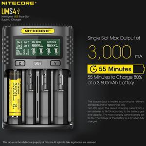 Image 3 - Nitecore UMS4 Intelligente Vier Slot Qc Snelle Opladen 4A Grote Stroom Multi Compatibele Usb Charger