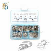 550/650 pçs/set DIN6799 GB896 M1.5-M6 304 C-tipo de Aço Inoxidável Elástica Selos Pressão Arruelas Circlip Reter O Ring Kit