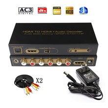 HDMI 5,1 convertidor de Audio decodificador DAC DTS AC3 EDID HDMI a HDMI Extractor convertidor divisor Digital SPDIF RCA