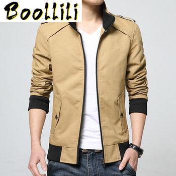 Boollili Spring Autumn Jacket Men 2020 Hot Sale Casual Thin Mens Jackets And Coats Stand Collar Jacket Plus Size M-4XL
