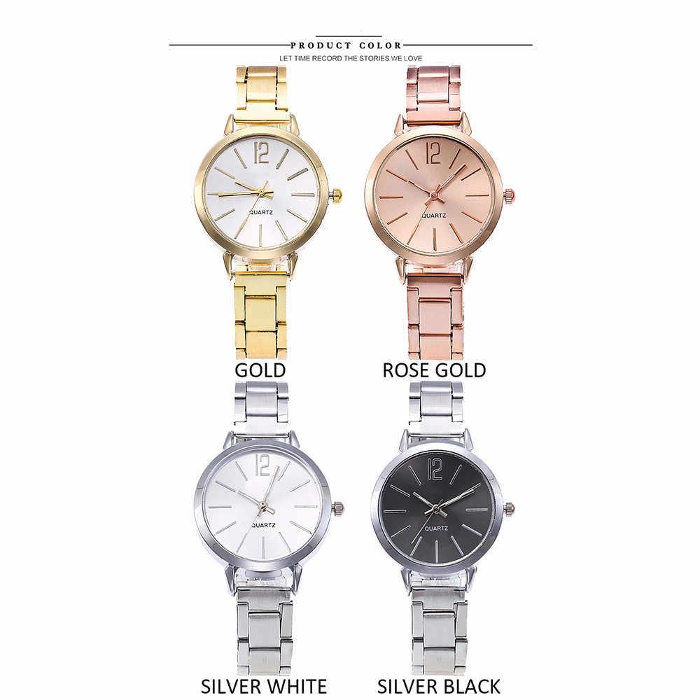 De moda simple damas de correa de acero de malla correa de reloj casual de cuarzo de acero inoxidable correa de mármol correa de reloj часы женские 50%