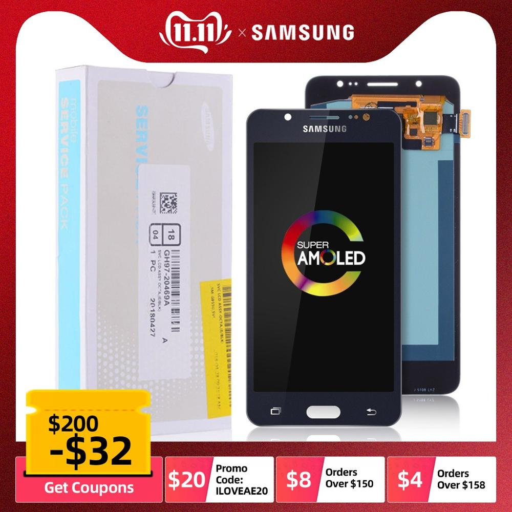 AMOLED LCD Para SAMSUNG Galaxy J5 2016 J510 J510F J510FN J510M Display Tela Touch Frontal Completo Módulo Visor Original 5.2 Pol Preta Dourado Branco