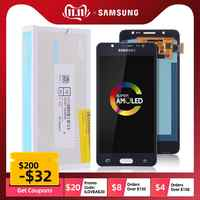 AMOLED Pantalla LCD Para SAMSUNG Galaxy J5 2016 J510 J510F J510FN J510M Display Cristal Táctil digitalizador Asamblea Completa Original 5.2'' Negra Blanco Dorado