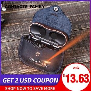 Image 1 - Роскошная сумка для SONY AirPods, Bluetooth, беспроводные наушники, кожаный чехол, чехол для Sony, чехол, чехол для зарядного устройства, чехол s