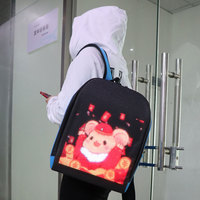 Smart LED backpack full color LED display APP WIFI control light board dynamic advertising multi functional computer backpack