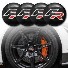 4 шт. 56 мм металлический Центральная втулка колеса автомобиля Кепки FR эмблемы наклейки для Seat Ibiza 6L Леон 1 м 5F Арона Ateca Cupra Seat Cordoba Altea Толедо