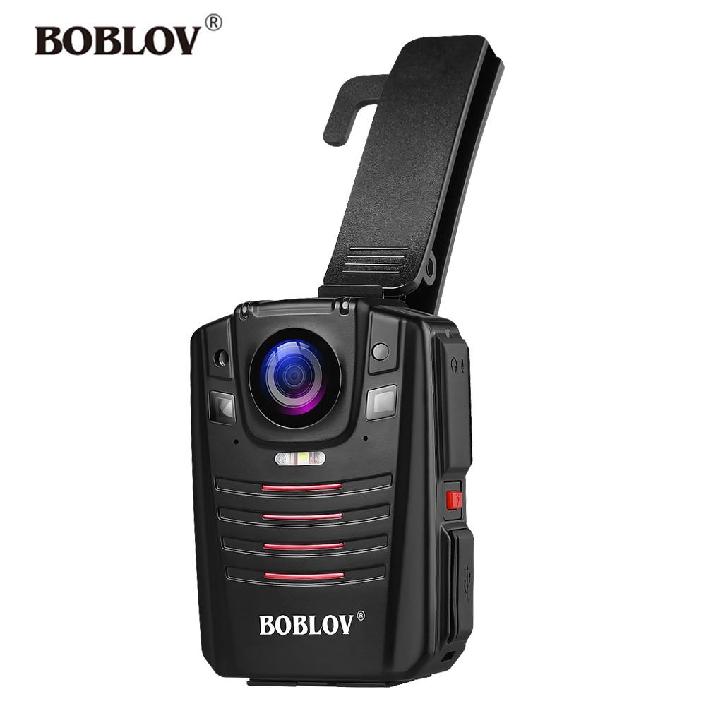 כורסאות טלויזיה BOBLOV HD66-07 גוף משטרת וידאו מצלמת DVR 64GB חוק אכיפת המצלמת 16X זום דיגיטלי 170 מצלמת Wide Angle ראיית לילה כיס (1)