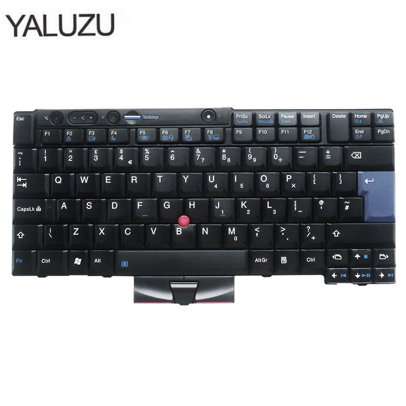 New UK Laptop Keyboard For IBM For Lenovo X220 X220i X220T T400s T410 T510 W510 W520 T520I T510I T410I 45N2135 45N2170 UK