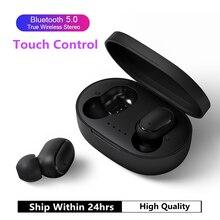 A6S TWS Bluetooth 5.0 אוזניות לxiaomi Redmi Airdots אלחוטי אוזניות סטריאו אוזניות רעש ביטול מיקרופון עבור iPhone Huawei