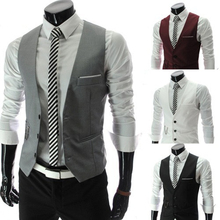 OLOME New Arrival formal Vest For Men Slim Fit Mens Suit Vests Male Waistcoat Gilet Homme Casual Sleeveless Business Jacket showersmile mens double breasted vest suit black dress waistcoat for men slim fit sleeveless jacket male spring autumn gilet