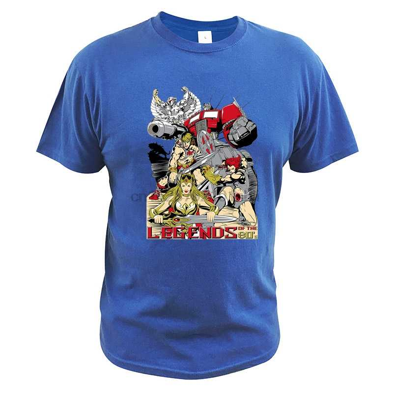 Legends of the 80s T Shirt He-Man Masters of the Universe Lei-Ra Leone-O optimus Prime Tee Magliette E Camicette SilverHawks Tshirt