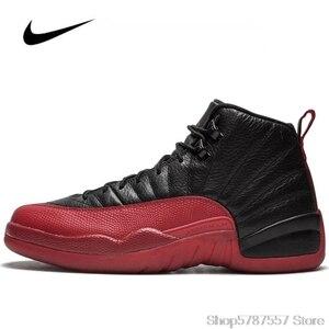 Оригинальные женские кроссовки Nike Air Jordan 12, Мужская баскетбольная обувь Jordan, обувь для игры в грипп, 2016 153265-002, высокие кроссовки Jordan