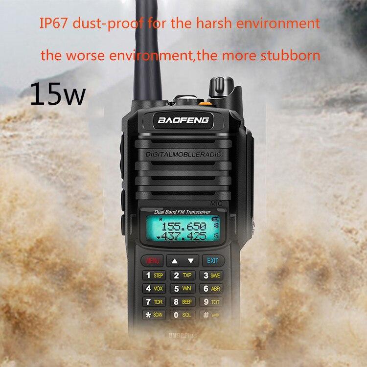 2019 NEW High Power Upgrade Baofeng UV-9R Plus Waterproof Walkie Talkie 15w For Two Way Radio Long Range 10km 8000mah Uv 9r Plus