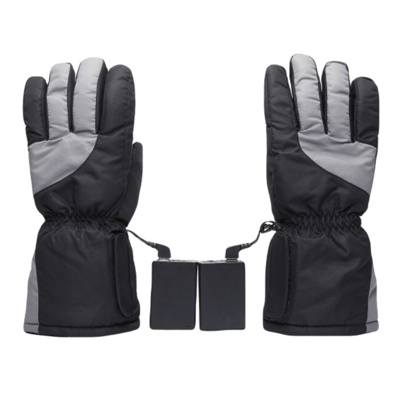 Finger Electric Gloves USB Outdoor Heating Battery Ski Gloves Thick Heating Gloves Plus Velvet Comfort Electric Gloves New