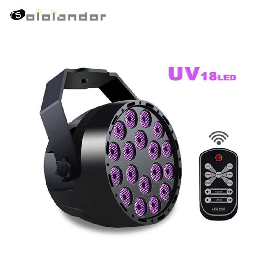 54W Par LED 18LED UV Ungu LED Lampu Panggung Par dengan DMX512 untuk Disco DJ Proyektor Mesin Pesta dekorasi Panggung